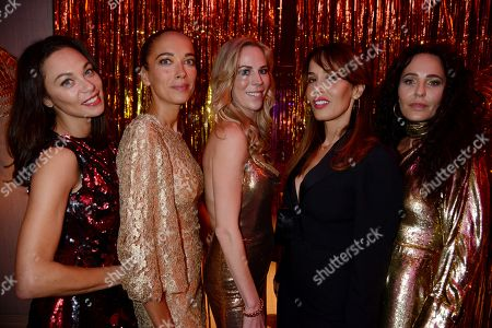 Stock Photo of Sharlely Lilly Kerssenberg, Carmen Chaplin, Alison Urquhart, Dolores Chaplin and guest