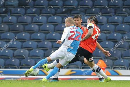 Blackburn Rovers Lewis Holtby shoots during the EFL Sky Bet Championship match between Blackburn Rovers and Luton Town at Ewood Park, Blackburn