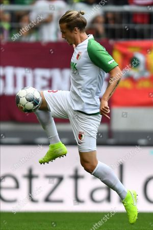 Augsburg's Tin Jedvaj in action during the German Bundesliga soccer match between FC Augsburg and Bayer 04 Leverkusen in Augsburg, Germany, 28 September 2019.