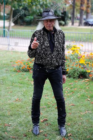 U.S bilionaire James Goldstein thumbs up before Eliee Saab Ready To Wear Spring-Summer 2020 collection, unveiled during the fashion week, in Paris