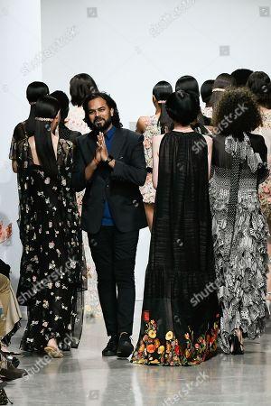 Rahul Mishra on the catwalk