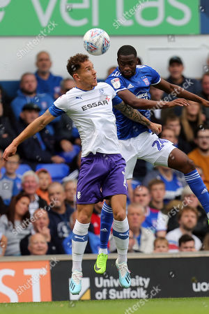 Kieron Morris of Tranmere Rovers and Kane Vincent-Young of Ipswich Town during Ipswich Town vs Tranmere Rovers, Sky Bet EFL League 1 Football at Portman Road on 28th September 2019