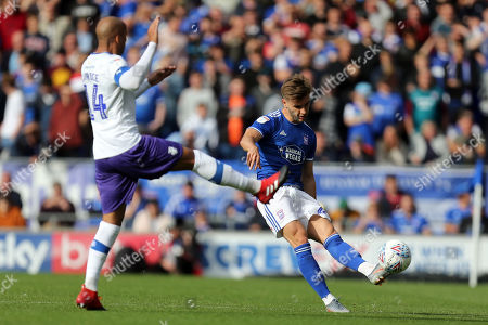 Luke Garbutt of Ipswich Town and Jake Caprice of Tranmere Rovers during Ipswich Town vs Tranmere Rovers, Sky Bet EFL League 1 Football at Portman Road on 28th September 2019