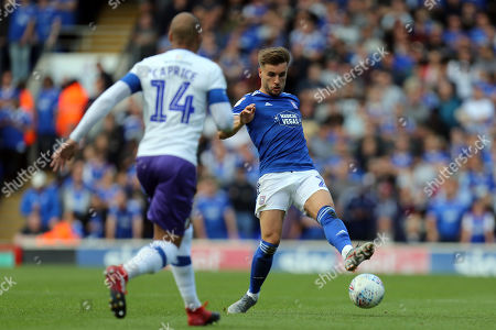 Stock Photo of Luke Garbutt of Ipswich Town and Jake Caprice of Tranmere Rovers during Ipswich Town vs Tranmere Rovers, Sky Bet EFL League 1 Football at Portman Road on 28th September 2019