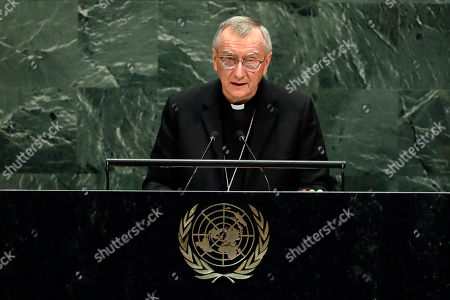 Cardinal Pietro Parolin, Secretary of State of the Holy See, addresses the 74th session of the United Nations General Assembly