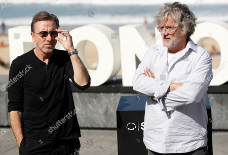 Francois Girard (R) and British actor/cast member Tim Roth (L) pose for the media during the presentation of the movie 'The Song of Names' at the 67th San Sebastian International Film Festival (SSIFF), in San Sebastian, Spain, 28 September 2019. The festival runs from 20 to 28 September.
