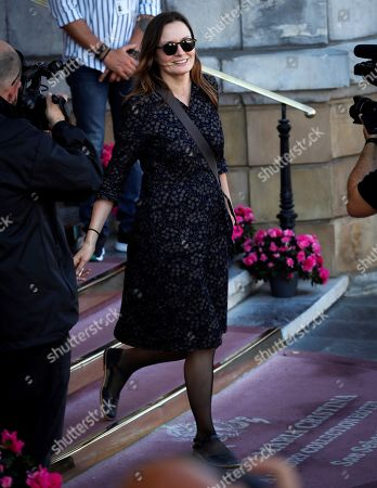 Catherine McCormack arrives for the 67th San Sebastian International Film Festival (SSIFF), in San Sebastian, Spain, 28 September 2019. McCormack is in San Sebastian to present the movie 'The Song of Names' at the festival that runs from 20 to 28 September.