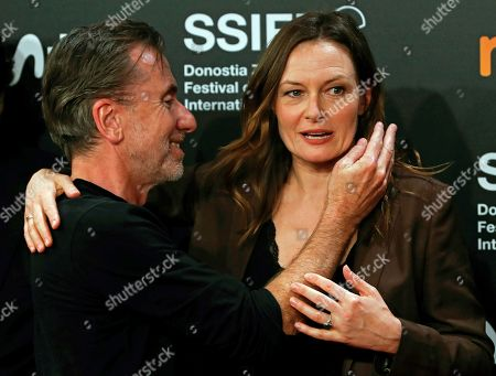 Tim Roth and Catherine MacCormack pose for the media during the closing ceremony of the 67th edition of the San Sebastian International Film Festival (SSIFF) in San Sebastian, Spain, 28 September 2019. The festival runs from 20 to 28 September.