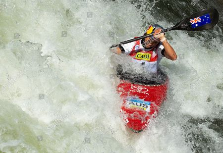Stock Photo of Australian Jessica Fox in action during the K1 race of the 2019 ICF Canoe Slalom World Championships in La Seu d'Urgell, Spain, 28 September 2019. Fox won silver.