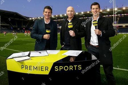 Edinburgh vs Zebre. Premier Sports' Dougie Vipond, Tom Shanklin and Hugo Southwell