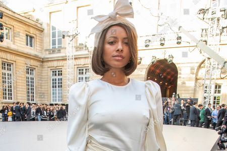Kat Graham attends the L'Oreal Ready To Wear Spring-Summer 2020 collection, unveiled during the fashion week, in Paris
