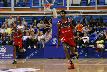 Stock Image of Levi Bradley of Bristol Flyers drives forward with the ball