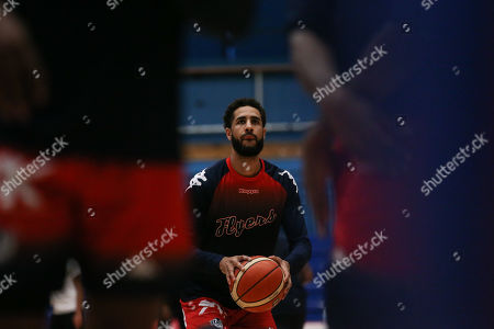 Chris Taylor of Bristol Flyers during the warm up