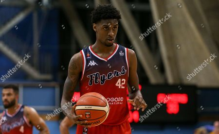 Stock Photo of Levi Bradley of Bristol Flyers sets up for a free throw