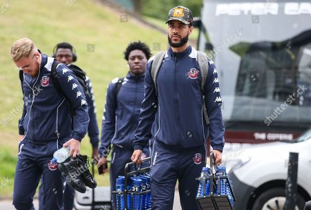Chris Taylor of Bristol Flyers arrives at the arena