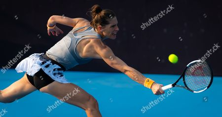 Andrea Petkovic of Germany in action during her first-round match