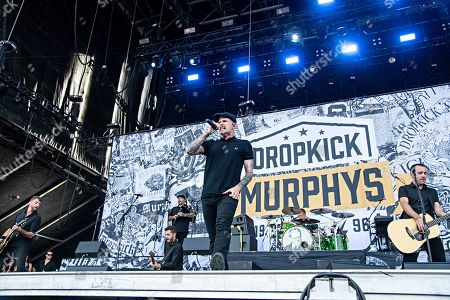 Stock Image of Al Barr of Dropkick Murphys performs during Louder Than Life at Highland Festival Grounds at KY Expo Center, in Louisville, Ky