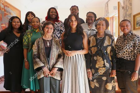 Meghan Duchess of Sussex (Centre) invited a group of South African women leaders including Sophia Williams-De Bruyn, Dr. Mamphela Ramphele, Professor Mamokgethi Phakeng, Lindiwe Mazibuko, Judy Sikuza, Mbali Ntuli, Siviwe Gwarube, Nompendulo Mkatshwa and Sonja De Bruyn Sebotsa, to join her in Cape Town, to better understand the roles they play - and have played - for their country and their communities.