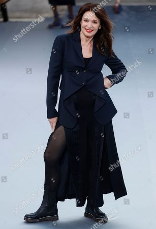 Stock Photo of German actress Iris Berben presents a creation during the L'Oreal fashion show at the Paris Fashion Week, in Paris, France, 28 September 2019. The presentation of the Spring/Summer 2020 collections runs from 23 September to 01 October 2019.
