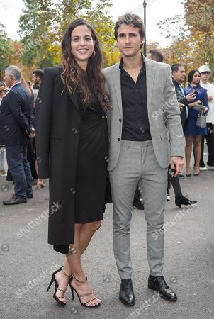 Stock Image of Anouchka Delon and Julien Dereins