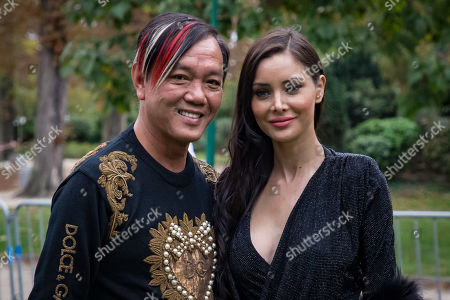 Chinese tycoon Stephen Hung and his wife Deborah Hung attend the presentation of the Spring/Summer 2020 Ready to Wear collection by Lebanese designer Elie Saab during the Paris Fashion Week, in Paris, France, 28 September 2019. The fashion week runs from 23 September to 1 October 2019.