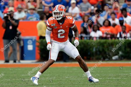 Florida defensive back Brad Stewart Jr. covers a play against Towson during the first half of an NCAA college football game, in Gainesville, Fla