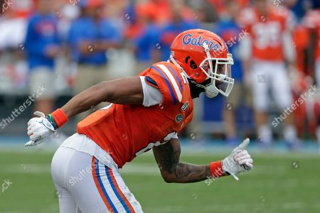 Florida defensive back Brad Stewart Jr. moves against Towson during the second half of an NCAA college football game, in Gainesville, Fla