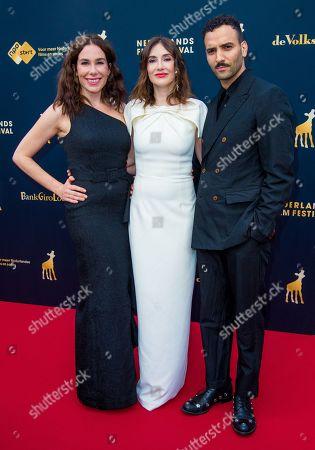 Stock Image of Halina Reijn, Carice van Houten and Marwan Kenzari