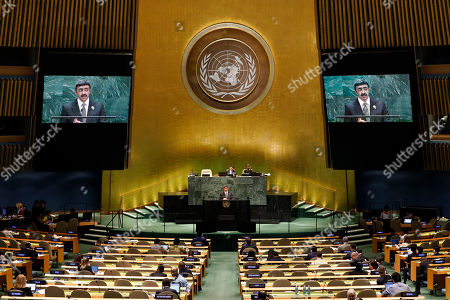 Sheikh Abdullah Bin Zayed Al Nahyan, foreign minister of the United Arab Emirates, addresses the 74th session of the United Nations General Assembly