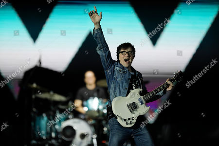 Rivers Cuomo of the band Weezer performs at the Rock in Rio music festival in Rio de Janeiro, Brazil