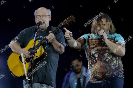 Stock Photo of Jack Black, Kyle Gass. U.S. actor and musician Jack Black, right, performs with Kyle Gass of the band Tenacious D, at the Rock in Rio music festival in Rio de Janeiro, Brazil