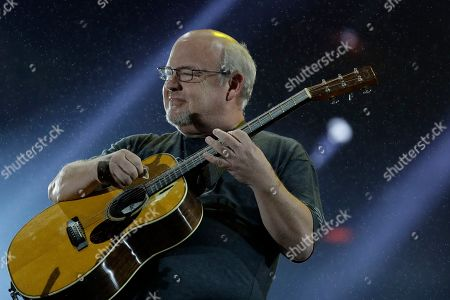 Stock Image of U.S. musician Kyle Gass of the band Tenacious D performs at the Rock in Rio music festival in Rio de Janeiro, Brazil