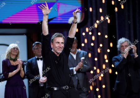 Tim Roth (C) presents the movie 'The Song of Names' during the closing ceremony of the 67th San Sebastian International Film Festival (SSIFF), in San Sebastian, Spain, 28 September 2019. The festival runs from 20 to 28 September.