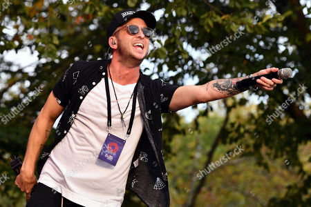 Ryan Tedder from the band One Republic performs at the 2019 Global Citizen Festival in Central Park, in New York