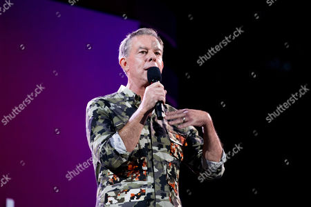 Radio personality Elvis Duran speaks at the 2019 Global Citizen Festival, in New York