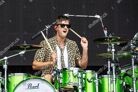 Arejay Hale of Halestorm performs during Louder Than Life at Highland Festival Grounds at KY Expo Center, in Louisville, Ky