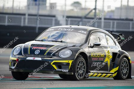 Tanner Foust #34 with team Andretti Rallycross in action during ARX practice at the Americas Rallycross, Circuit of the Americas. Austin, Texas