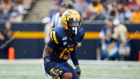 Toledo cornerback Chris McDonald (13) in action against the Brigham Young during an NCAA football game on in Toledo, Ohio