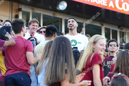Chestnut Hill, MA, USA; Boston Celtics center Enes Kanter during the NCAA football game between Wake Forest Demon Deacons and Boston College Eagles at Alumni Stadium