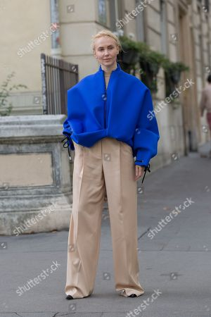 Editorial image of Street Style, Spring Summer 2020, Paris Fashion Week, France - 27 Sep 2019