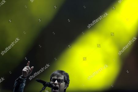 Rivers Cuomo, of the band Weezer, performs during Rock in Rio festival in Rio de Janeiro, Brazil, 28 September 2019. The festival runs from 27 September through to 06 October 2019.