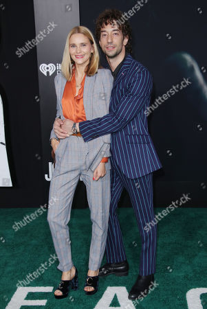Stock Image of Albert Hammond Jr. and wife