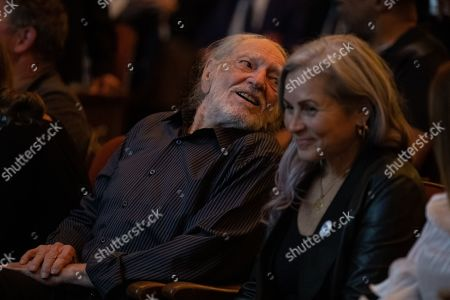 Willie Nelson and his wife Annie D'Angelo