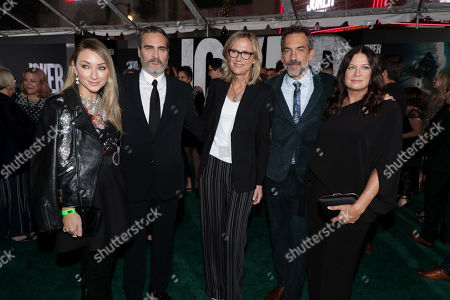 Blair Rich, President, Worldwide Marketing, Warner Bros. Pictures Group and Warner Bros. Home Entertainment, Joaquin Phoenix, Ann Sarnoff, Chair and CEO of Warner Bros., Todd Phillips, Director/Writer/Producer, Emma Tillinger Koskoff, Producer,