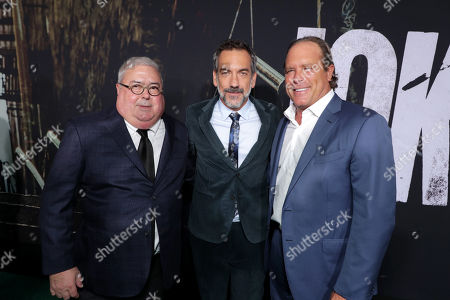 Stock Image of Bruce Berman, Chairman and CEO, Village Roadshow Pictures, Todd Phillips, Director/Writer/Producer, Steve Mosko, Chief Executive Officer, Village Roadshow Entertainment Group,