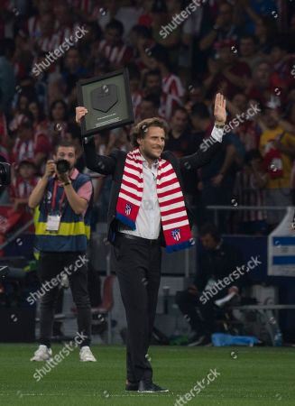 Tribute to the former Atletico de Madrid player, Diego Forlan