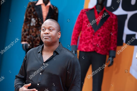 Tituss Burgess poses on the red carpet during the premiere of the Netflix film Dolemite Is My Name at the Regency Village Theatre in Los Angeles, California, USA, 28 September 2019.