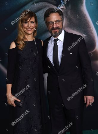"""Marc Maron, Lynn Shelton. Cast member Marc Maron, right, and Lynn Shelton arrive at the Los Angeles premiere of """"Joker"""" at TCL Chinese Theatre on"""