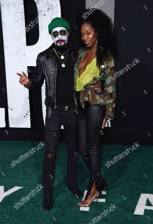 """Lakeith Stanfield, Xosha Roquemore. Lakeith Stanfield and Xosha Roquemore arrive at the Los Angeles premiere of """"Joker"""" at TCL Chinese Theatre on"""