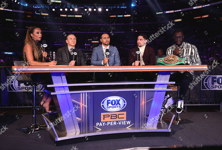 Kate Abdo and Ray Mancini and Danny Garcia and Keith Thurman and Deontay Wilder
